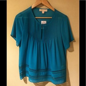 Michael Kors Teal Blouse Women's X-Small NWT